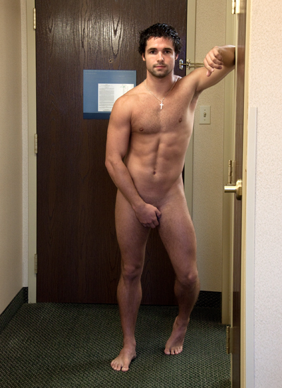 Naked guy covering himself — pic 7